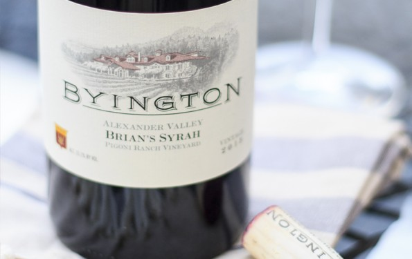 Just Tasted | Byington Vineyards 2013 Brian's Syrah Pigoni Ranch Vineyard