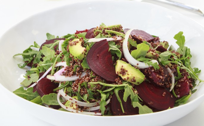 Roasted Beet, Avocado, and Quinoa Salad with a Lemon Vinaigrette | Designs of Any Kinds