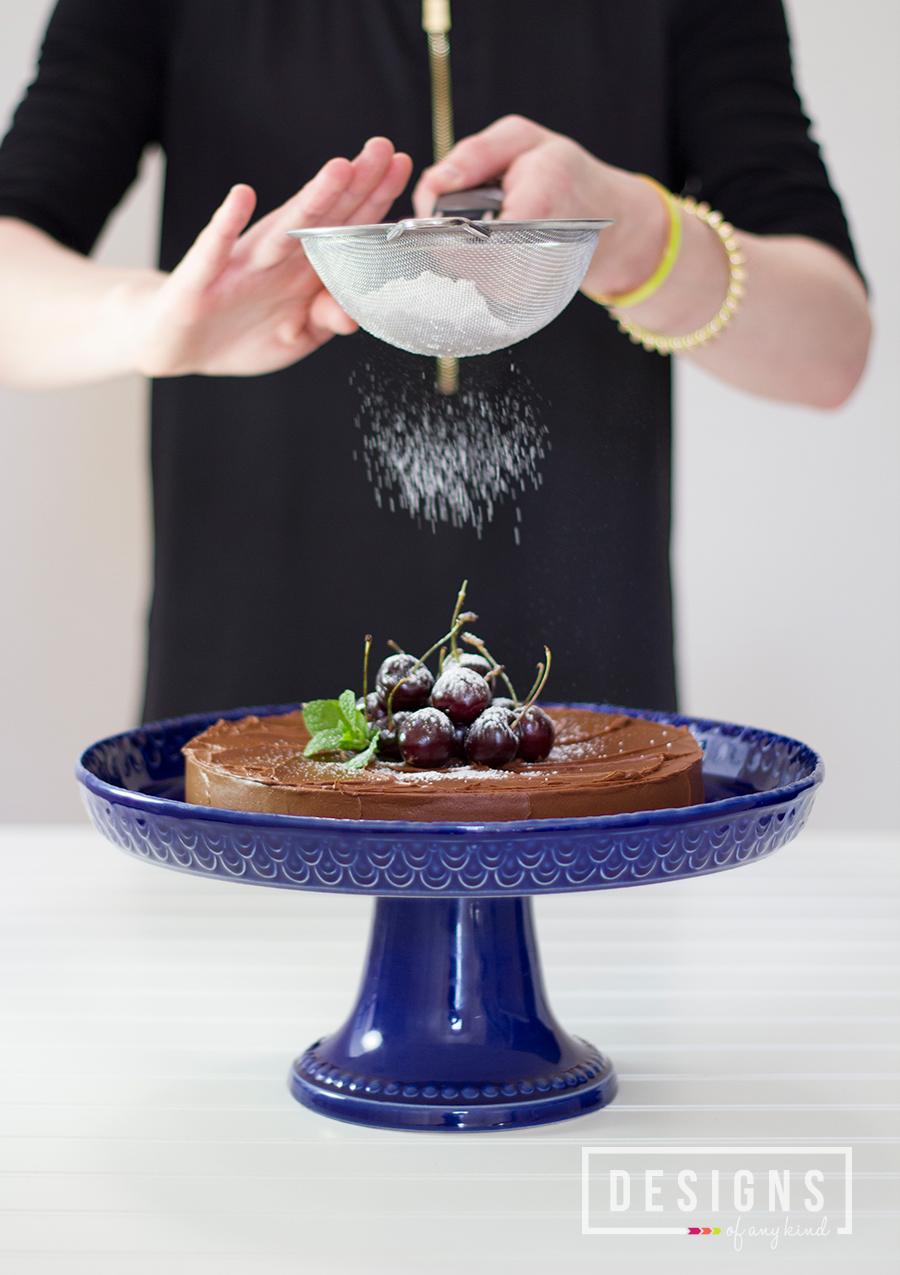 Bittersweet Chocolate Irish Whiskey Cake - Designs of Any Kind