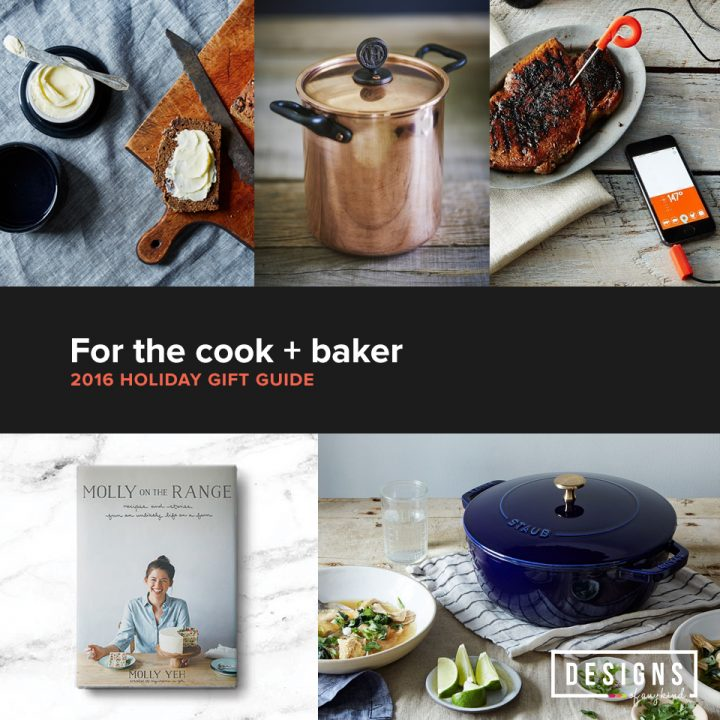 A holiday roundup of must-have gift ideas for that cook or baker in your life. Find out more at designsofanykind.com