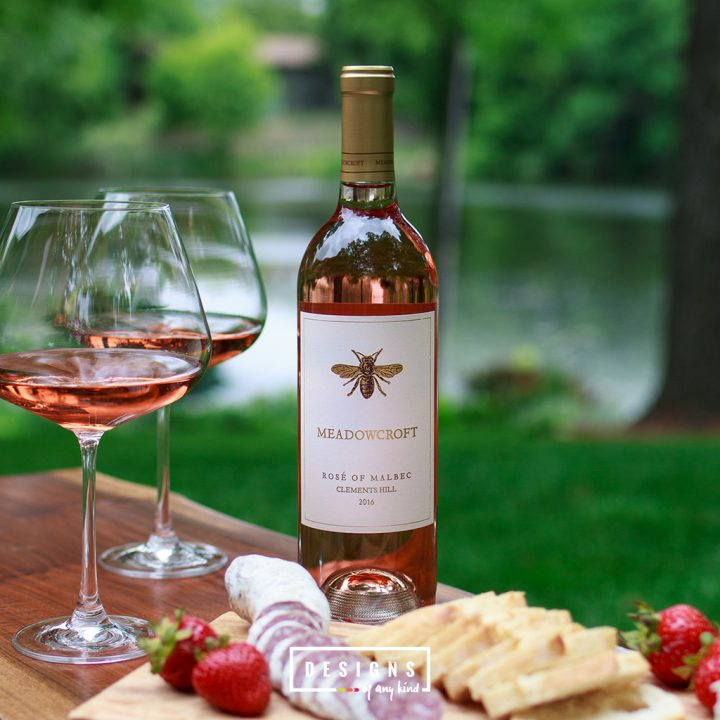 Just Tasted // 2016 Meadowcroft Rose of Malbec Clements Hill. A summertime-sipping, entertaining-essential rosé wine from Sonoma Valley, California. Lots of tart, punchy grapefruit, fresh strawberries and dried cherries. Find out more at www.designsofanykind.com